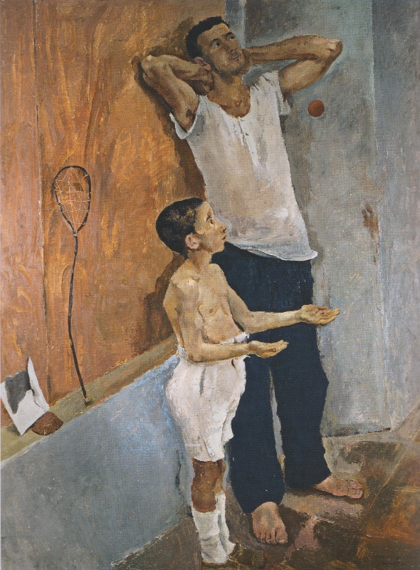 Fausto Pirandello, Father and Son (Youth), c. 1934
