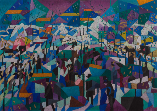 Gino Severini, The Boulevard, 1910-11